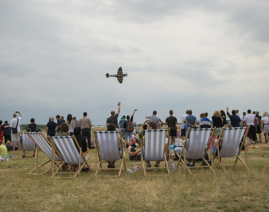 Local community members enjoying the airshow as part of Mondi Štětí's 70 year celebrations