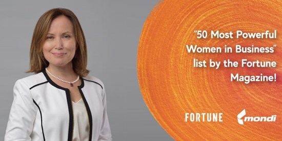 "Mondi Tire Kutsan's CEO Sevinç Yener Çimecioğlu is ranked among ""The 50 most powerful female CEOs in Turkey"" and ""50 most powerful women in business"""